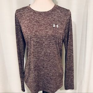 Under Armour purple marbled long sleeve shirt M